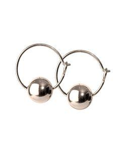 Lux Hoop Silver Sterling Sølv Øreringe fra Scherning