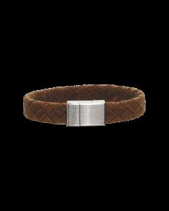 Scrouples Læder Armbånd med Stållås 02741,21