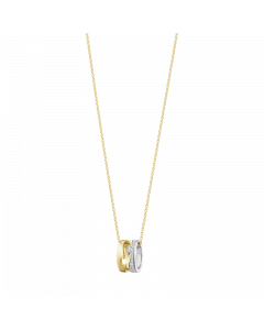 Fusion 18 Karat Guld Vedhæng fra Georg Jensen med Hvidguld og Diamanter 0,22 Carat TW/VS
