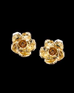 Scrouples Blomst Mellem 14 Karat Guld Ørestikker