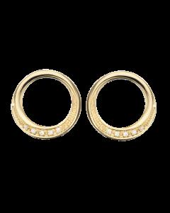 Scrouples Cirkel 14 Karat Guld Ørestikker med Diamanter 0,04 Carat H-W/SI