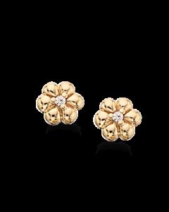 Blomster 8 Karat Guld Ørestikker fra Scrouples 119593