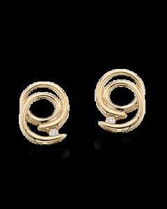 14 Karat Guld Ørestikker fra Scrouples med Diamanter 0,02 Carat H-W/SI