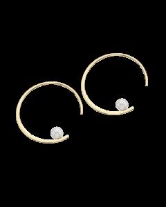 8 Karat Guld Øreringe fra Scrouples med Ferskvandsperler