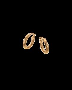 Snoet Creol 8 Karat Guld Øreringe fra Scrouples 121123