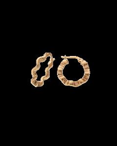 Buet Creol 8 Karat Guld Øreringe fra Scrouples 121133