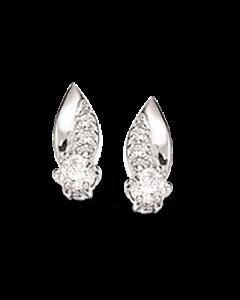 Rhodineret Sølv Øreringe fra Scrouples 147202
