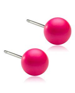 Blomdahl Electric Pink Titanium Ørestikker med Swarovski Perler