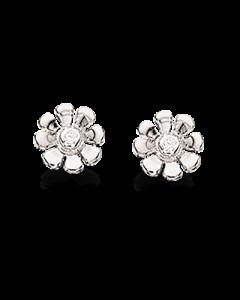 Blomst Rhodineret Sølv Ørestikker fra Scrouples