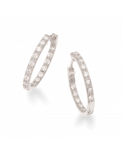 Soho Rhodineret Sølv Øreringe fra Scrouples 156212