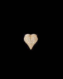 Ole Lynggaard Hjerte Smykkelås i 18 Karat Guld med Diamanter 0,30 Carat TW/VS