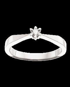 Victoria Ring 0,05 ct. i 14 Karat Hvidguld fra Scrouples