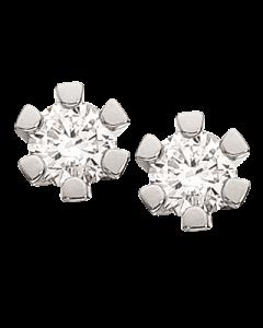 Vida 14 Karat Hvidguld Ørestikker fra Scrouples med Diamanter 0,15 Carat H-W/P1