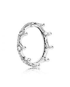 Enchanted Crown Sterling Sølv Ring fra Pandora 197087CZ