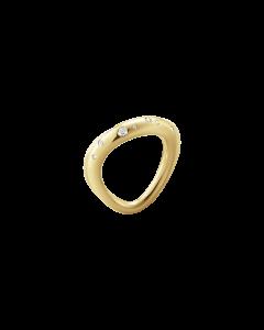 Offspring Str. 54 - 55 18 Karat Guld Ring fra Georg Jensen med Brillanter 0,14 Carat TW/VS
