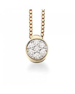 Scrouples Vedhæng i 14 Karat Guld med Diamanter 0,18 Carat H-W/SI