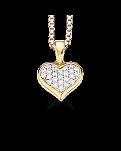 Hjerte 14 Karat Guld Vedhæng fra Scrouples med Brillanter 0,20 Carat H-W/SI