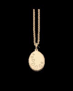 Hjerter Amulet 8 Karat Guld Vedhæng fra Scrouples
