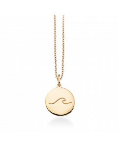 Bølgen Amulet 8 Karat Guld Vedhæng fra Scrouples