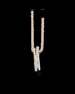 Scrouples Vedhæng i 14 Karat Guld med Brillanter 0,07 Carat H-W/SI