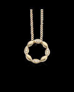 Scrouples Vedhæng i 14 Karat Guld med Diamanter 0,06 Carat W/SI