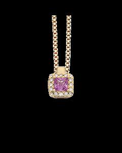 Diana 14 Karat Guld Vedhæng fra Scrouples med Pink Safir og Brillanter