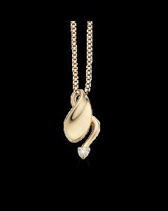 Scrouples 14 Karat Guld Vedhæng med Diamant 0,03 Carat W/SI