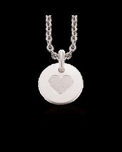 Scrouples Hjerte Sterling Sølv Halskæde 223432-VAL
