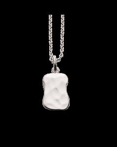 Hamret Firkant Sterling Sølv Halskæde fra Scrouples