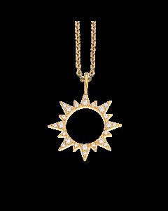 Scrouples Sol Forgyldt Sølv Halskæde 235492