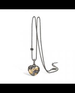 Blossom Sølv Halskæde med Diamant 25341040-45