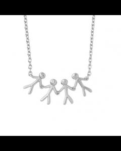 byBiehl Family Sterling Sølv Halskæde 3-2004-R