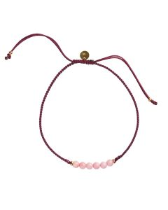 Stine A. Candy Coral Bordeaux Armbånd i Nylon 3086-02-OS