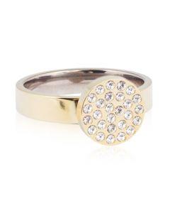 Blomdahl Brilliance Plenary Ring i Titanium med Swarovski Krystaller