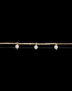 Ferskvandsperler 8 Karat Guld Armbånd fra Scrouples