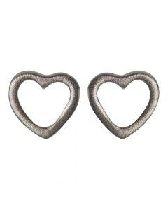Hjerte Rhodineret Sølv Ørestikker fra Nordahl Andersen