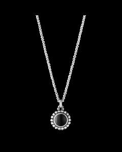 Georg Jensen Moonlight Blossom halskæde m/sort agat - sølv