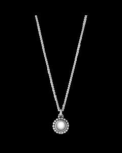 Georg Jensen Moonlight Blossom halskæde m/sølvsten - sølv