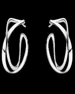 Georg Jensen Infinity øreringe 36 mm - sølv