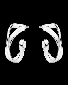 Georg Jensen Infinity øreringe 22 mm - sølv