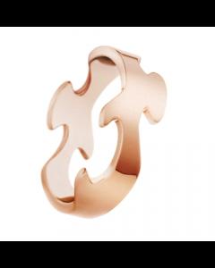 Fusion Midte 18 Karat Rosaguld Ring fra Georg Jensen