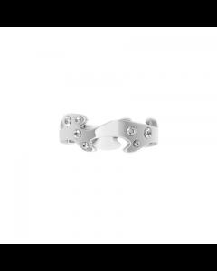 Fusion Str. 56 Center 18 Karat Hvidguld Ring fra Georg Jensen med Diamanter 0,16 Carat TW/VS