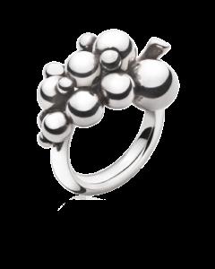 Georg Jensen Lille Grape Str. 55 Oxideret Sølv Ring