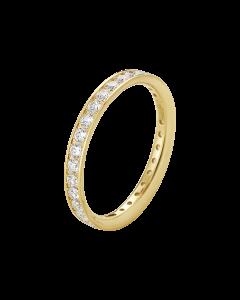 Georg Jensen Classique guldring - 18 kt. guld med diamanter