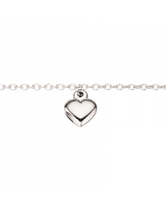 Hjerte Rhodineret Sølv Armbånd fra Scrouples 37532,18