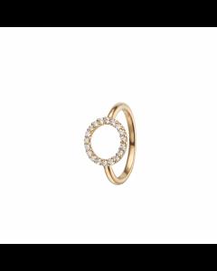 Topaz Circle Forgyldt Sølv Ring fra Christina Watches med Topaser