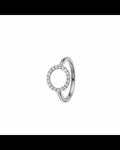Christina Watches Collect Topaz Circle Sterling Sølv Ring med Topaser