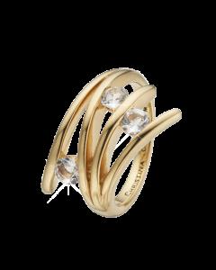 Collect Balance Love Forgyldt Sølv Ring fra Christina Watches med Topaser
