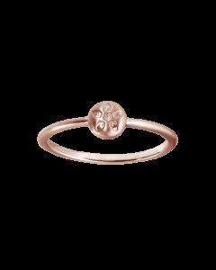Signature Rosaforgyldt Sølv Ring fra byBiehl