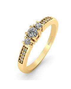 14 Karat Guld Ring fra Smykkekæden med Diamanter 0,80 Carat W/SI3